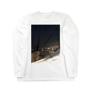 夜のゲレンデ Long sleeve T-shirts
