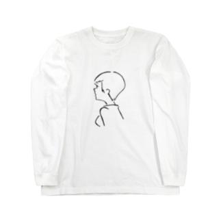 ガールフレンドショートヘア Long sleeve T-shirts