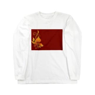 緋色 Long sleeve T-shirts