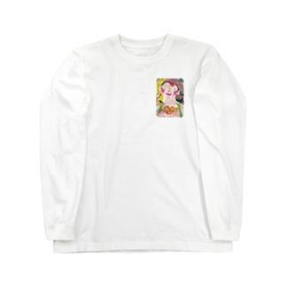 オレンジ娘 Long sleeve T-shirts