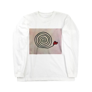 ぐるぐるハート Long sleeve T-shirts