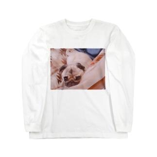 みつめるパグ Long sleeve T-shirts