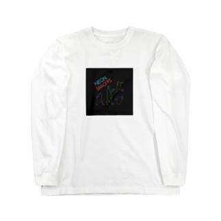 ネオンカラーのダンサー集団 Long sleeve T-shirts