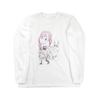 ピンク女の子 Long sleeve T-shirts