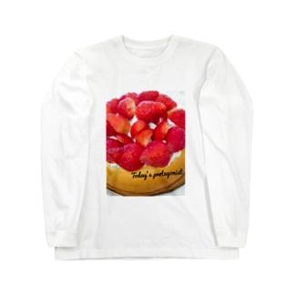 ケーキ Long sleeve T-shirts