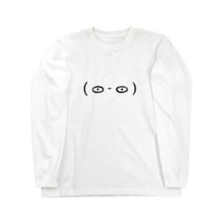 顔文字( ᯣ - ᯣ ) Long sleeve T-shirts