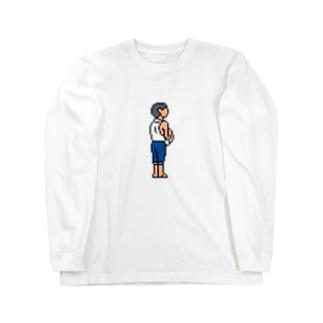 晴海埠頭にて Long sleeve T-shirts
