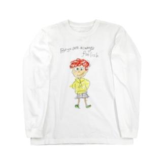 アメリカ少年、ジェイコブくん Long sleeve T-shirts