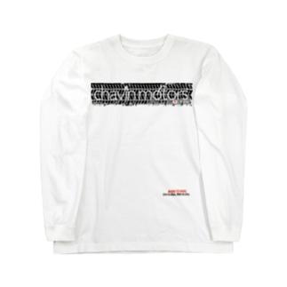 チャビンモータース タイヤ痕ロゴT Long sleeve T-shirts