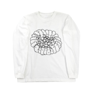 指の集合体 Long sleeve T-shirts