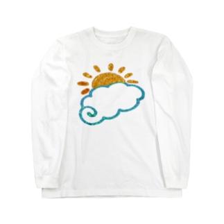 キラキラ 雲とお日様 Long sleeve T-shirts