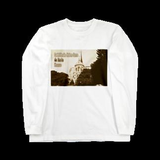 FUCHSGOLDのフランス:パリのノートルダム大聖堂 France: Notre-Dame de Paris ( before the fire 2019 ) Long sleeve T-shirts