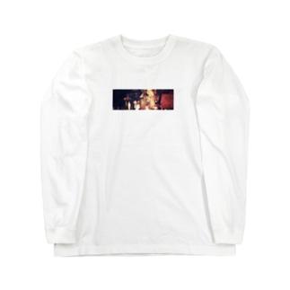 暗闇のコラージュ Long sleeve T-shirts