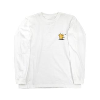 きいろのねこぴ Long sleeve T-shirts