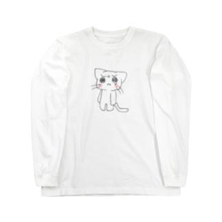 泣き虫にゃんこ Long sleeve T-shirts