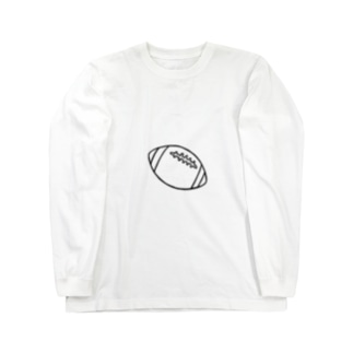 ラグビーボール Long sleeve T-shirts