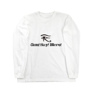 眼精疲労 Long sleeve T-shirts