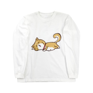 だらけ柴犬。 Long sleeve T-shirts