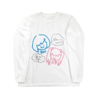 きみぷりちゃん透過ver Long sleeve T-shirts