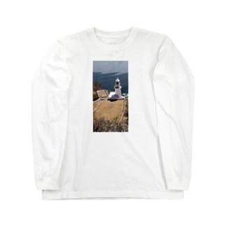 地球岬(北海道室蘭市) Long sleeve T-shirts