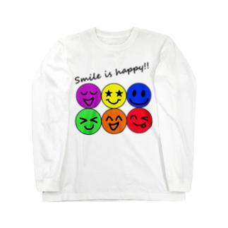 ハッピー&スマイル♬ Long sleeve T-shirts