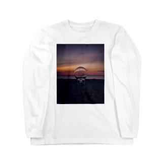 サンセットビーチ オレンジ Long sleeve T-shirts