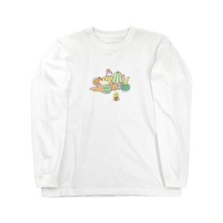 かぼちゃと ことり Long sleeve T-shirts