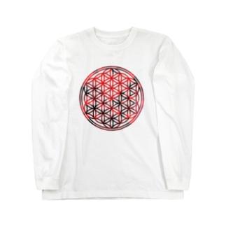 レッドガーネット (大) Long sleeve T-shirts