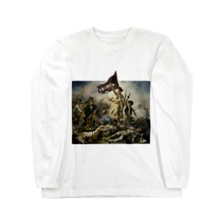 伊豆の国市民を導く自由の女神 Long sleeve T-shirts