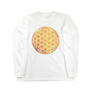 オレンジサファイア (大) Long sleeve T-shirts