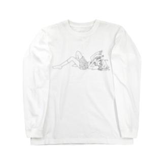 ネカフェ Long sleeve T-shirts