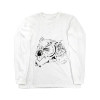 ミミズクさん Long sleeve T-shirts