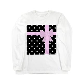 FD/ラッピング 水玉 Long sleeve T-shirts
