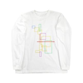 矩形カラー Long sleeve T-shirts