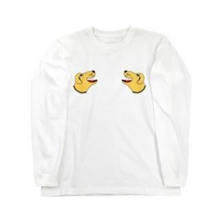 ラブラドール@スカジャン風味 Long sleeve T-shirts