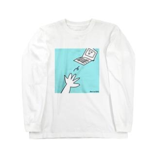 デジタルデトックス Long sleeve T-shirts