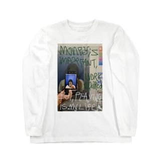 金働or遊 Long sleeve T-shirts