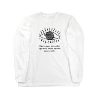 Valkyrie eye long sleeve T-shirt(white) Long sleeve T-shirts
