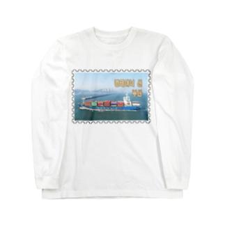 大韓民国:コンテナ船★白地の製品だけご利用ください!! Korea: Container ship/ Busan★Recommend for white base products only !! Long sleeve T-shirts