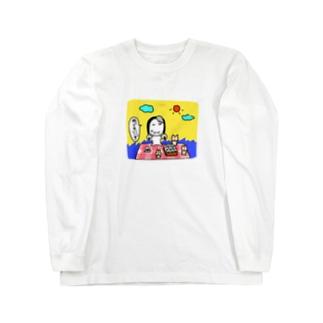 ピクニック(大きい) Long sleeve T-shirts