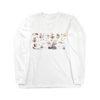 カピバラべぇかりぃとずんぐり〜ず2 Long sleeve T-shirts