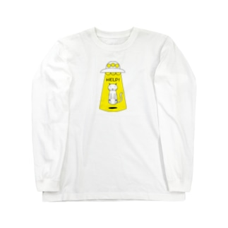 HELP猫 Long sleeve T-shirts