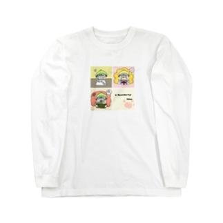 もち吉(仮)のニャんだふるタイム Long sleeve T-shirts