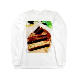 チョコケーキ Long sleeve T-shirts