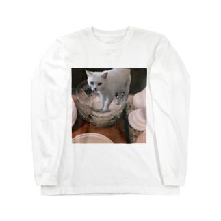 ずっと見てるキャット Long sleeve T-shirts