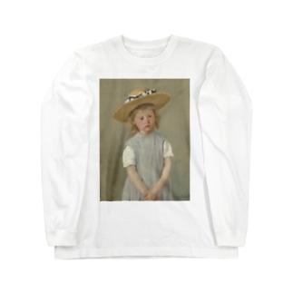 メアリー・カサット作「麦わら帽子をかぶった少女」 Long sleeve T-shirts