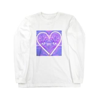 ネオンハートキャット トム Long sleeve T-shirts