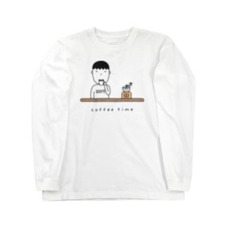 コーヒー男子 Long sleeve T-shirts