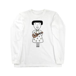 ウクレレ女子 Long sleeve T-shirts