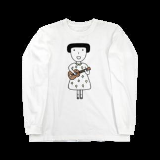 そろり屋のウクレレ女子 Long sleeve T-shirts